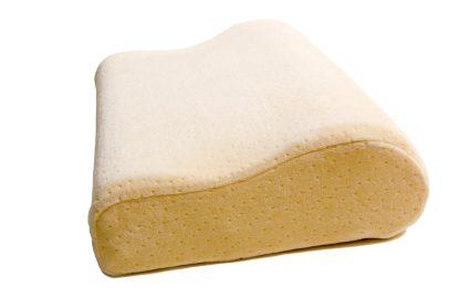 Contour pillow made of memory foam