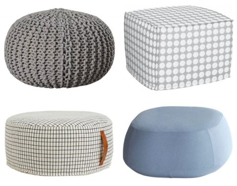 pouf shapes and sizes