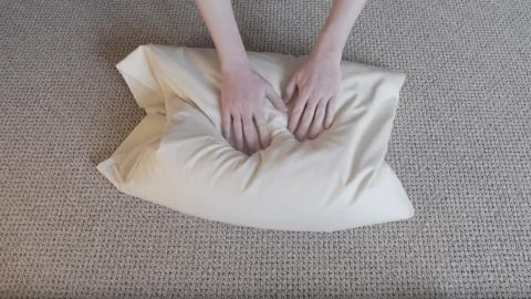 buckwheat pillow fluffing