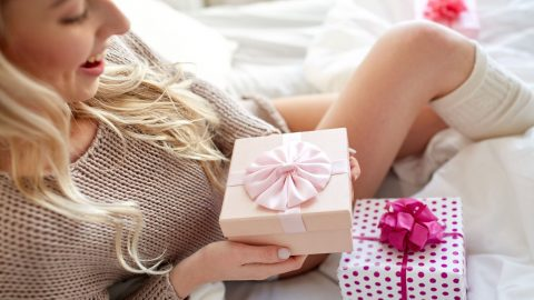 Woman receives sleep gifts